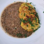 Lentils w/ bread dumplings