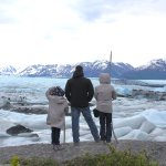 My husband and kids overlooking the glacier.