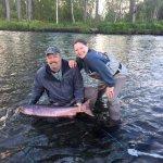 Spey Rod King Salmon Fishing at Wilderness Place Lodge, in Lake Creek/Skwentna, Alaska!