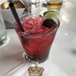 Blackberry Margarita on the rocks no salt