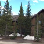 Deer Lodge at Grant Village - snow on the ground in June