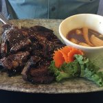 Short ribs cut like kailbi yum Korean style. But no kim chi though. Food service excellent