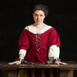 Bridget Bishop on trial for witchcraft, April, 1692. Photo credit by Kim Indressano.