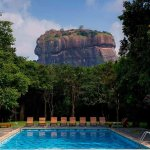 Lion rock view over the pool