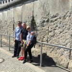 Jeremy, my wife and me at a section of the Berlin Wall