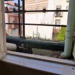 Blick aus dem Fenster, Bad im 3. Stock, Innenhof