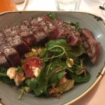 We were delighted to find the best steak salad we eaten. The steak was perfect, the salad had a