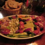 meat, cheese, veggie & olive platter