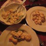 shrimp & bean in white sauce