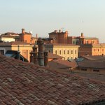Even better in the morning when the sun illuminated the chimney pots