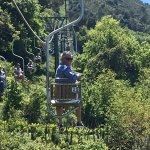 The chairlift up!