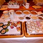 Included breakfast buffet - cereals, fruits, condiments