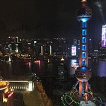 Shanghai at night from the Premier Bund View Suite