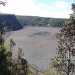 Huge flat cooled lake of lava