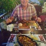 fish casserole and steak - yum