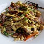 Chicken salad from lunch menu