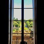 Window in palace overlooking gardens