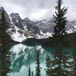 """View of Moraine Lake from the """"rock pile."""""""