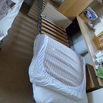 To get three people in the room a cot was moved in, so it was a bit crowded but adequate.