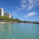 Waikiki Beach (in pic) is right across the street.