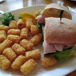 Miss Piggy Sandwich with tater tots