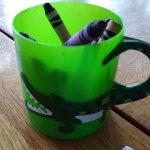 Kid's crayon cup