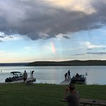 A rainbow over Hebgen Lake