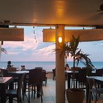 The incredible view from this beach bar.