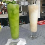 We loved all the drinks! Frozen mojito on the left, yum!!