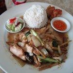 Stir-fried Chicken with Shitake Mushroom & Fresh Ginger (lunch special)