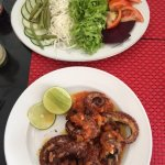 Octopus and garden salad