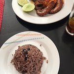 Octopus and congri rice
