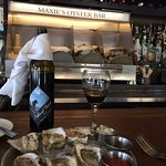 A local Cab Franc by Hazlitt 1852 Vineyards and raw oysters.  Delicious!