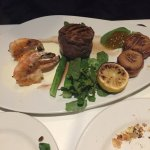 Filet mignon, shrimp, and scallops..
