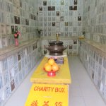 One of the rooms at the Yuen Yuen Institute containing cremated remains.