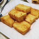 Deep fried tofu with golden garlic