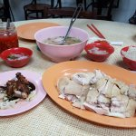 Chicken rice and roast pork