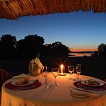 Private dining from your tent terrace