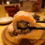 I forgot the name hehe, but not abura salmon mentai, its good as well tho