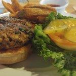 Spinach, Blue Cheese and Mushroom Stuffed, Award Winning Burger