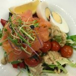 Salad with Smokes Salmon Rose