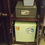 Fridge ,Safe Box and Hair Dryer