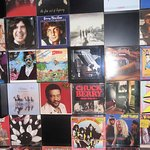 Records covering the wall in the Helter Skelter Bar!