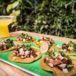 Tacos on handmade corn tortillas