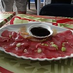 The raw fish you get to taste on the Mystery Trip of the Island