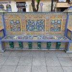 beautiful tiled seating, Plaza Alta