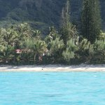 View from the boat of Rarotonga
