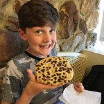 Everyone enjoyed their meals. Cookie actually had 25% more chocolate chips but my son knocked se