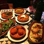 Just 6 of the fantastic Tapas dishes we tried :)