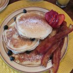 Breakfast - Blueberry Pancakes & Bacon